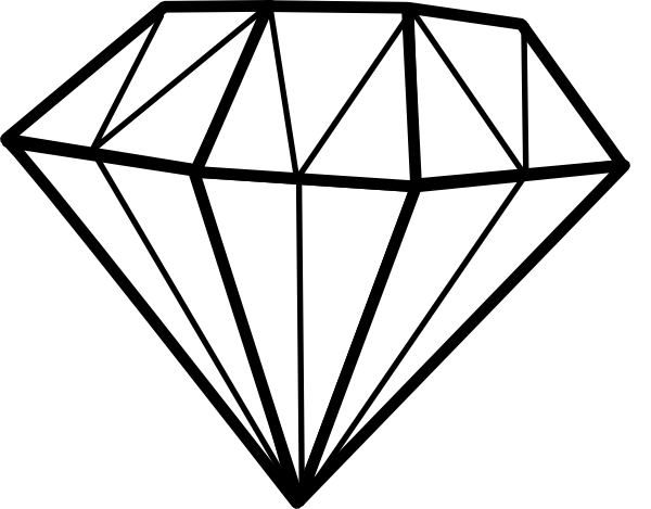 Diamond clipart #2, Download drawings