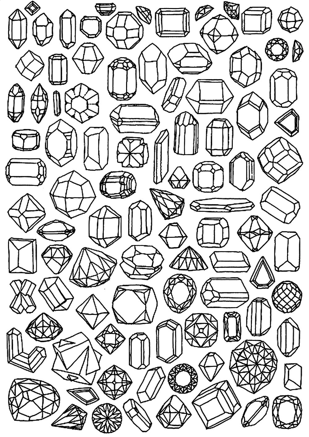 Diamond coloring #1, Download drawings
