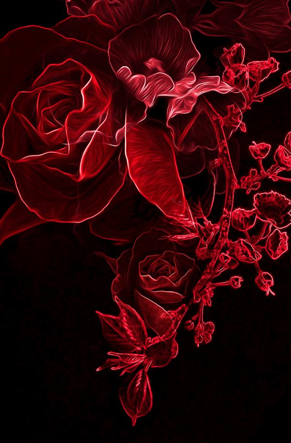 Digital Art Red coloring #14, Download drawings