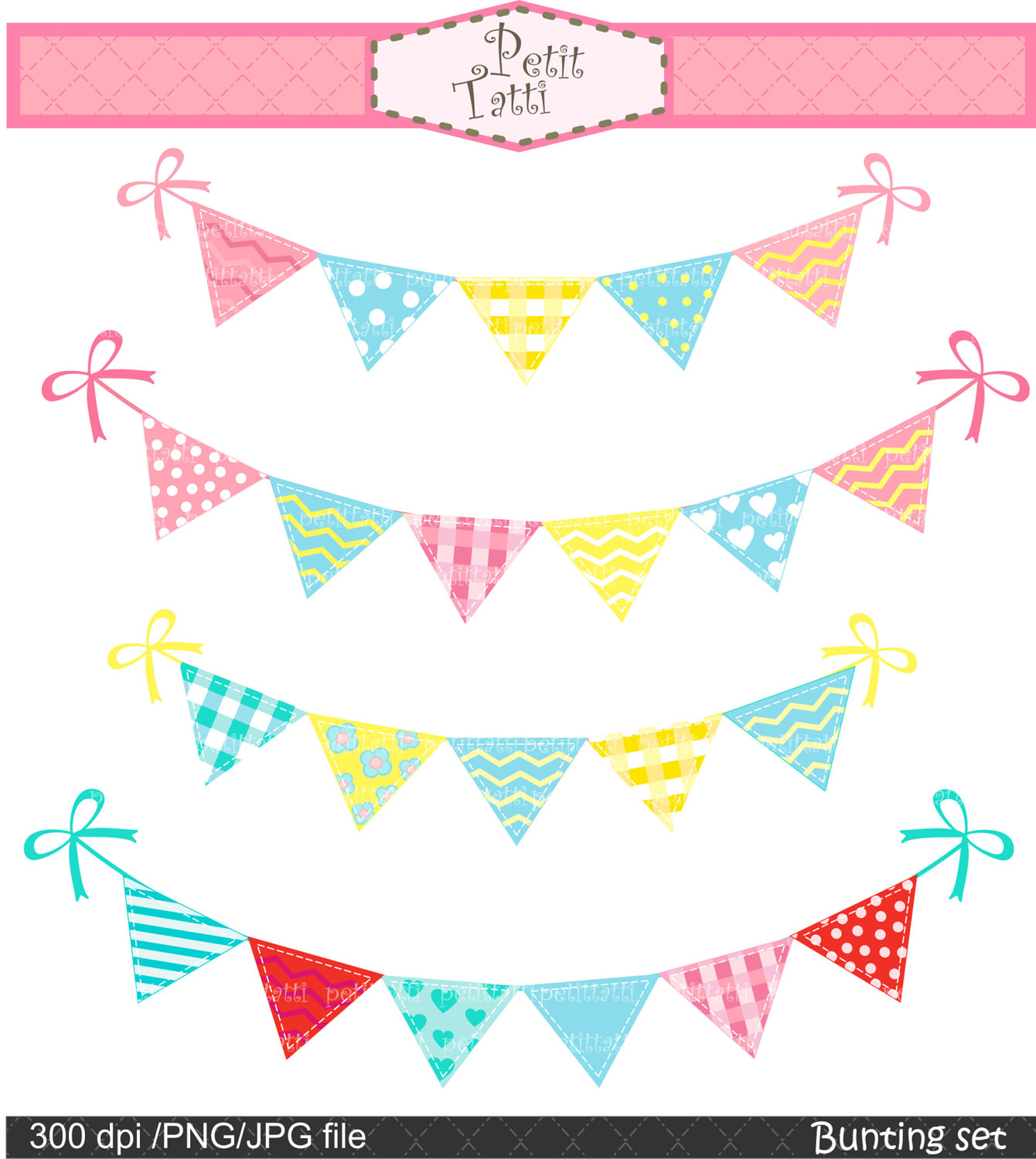 Bunting clipart #3, Download drawings