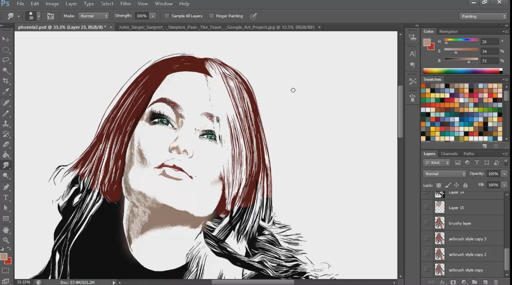 Digital coloring #16, Download drawings