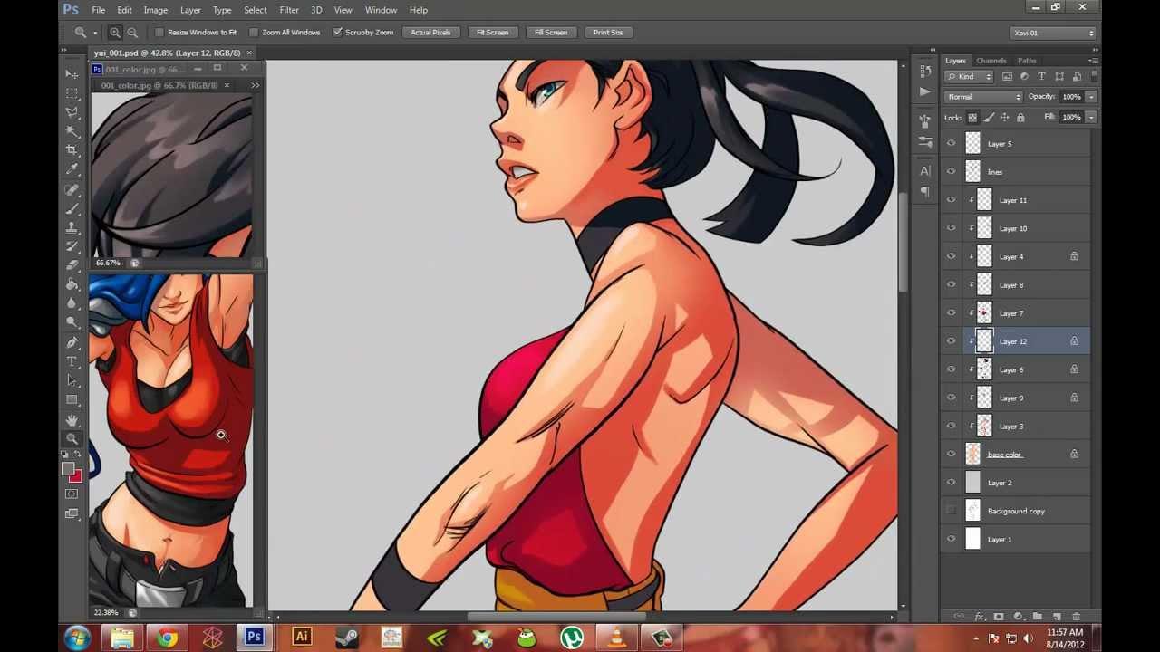 Digital coloring #4, Download drawings