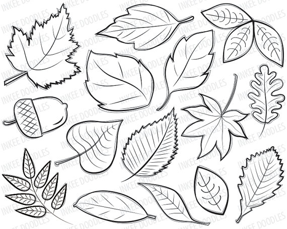 Digital Leave clipart #2, Download drawings