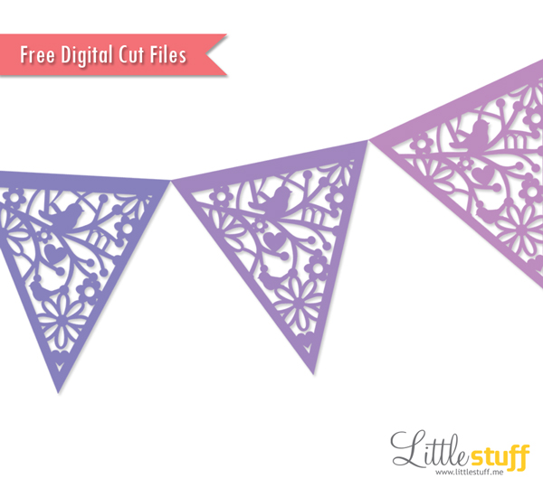 Bunting svg #18, Download drawings
