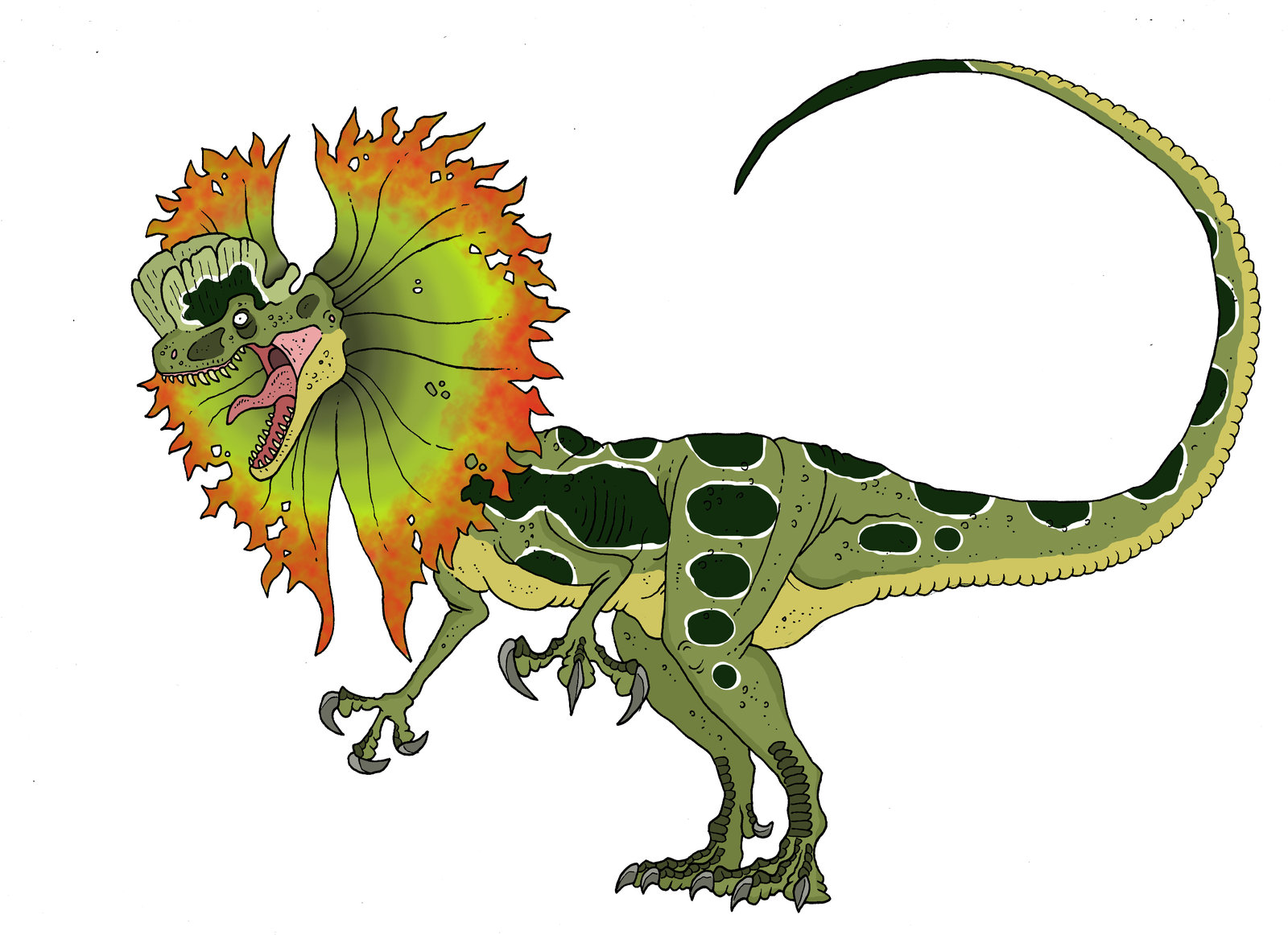 Dilophosaurus clipart #2, Download drawings