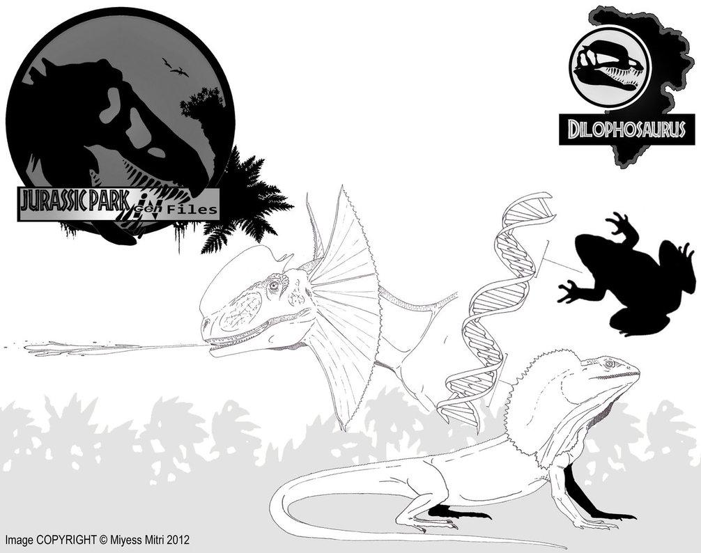 Dilophosaurus coloring #5, Download drawings