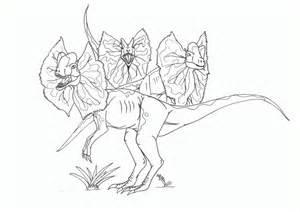 Dilophosaurus coloring #7, Download drawings