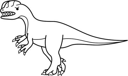 Dilophosaurus coloring #6, Download drawings
