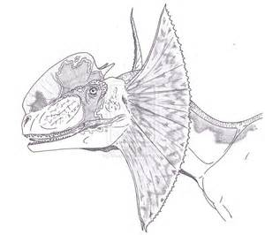 Dilophosaurus coloring #1, Download drawings