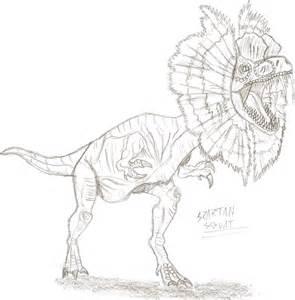 Dilophosaurus coloring #19, Download drawings