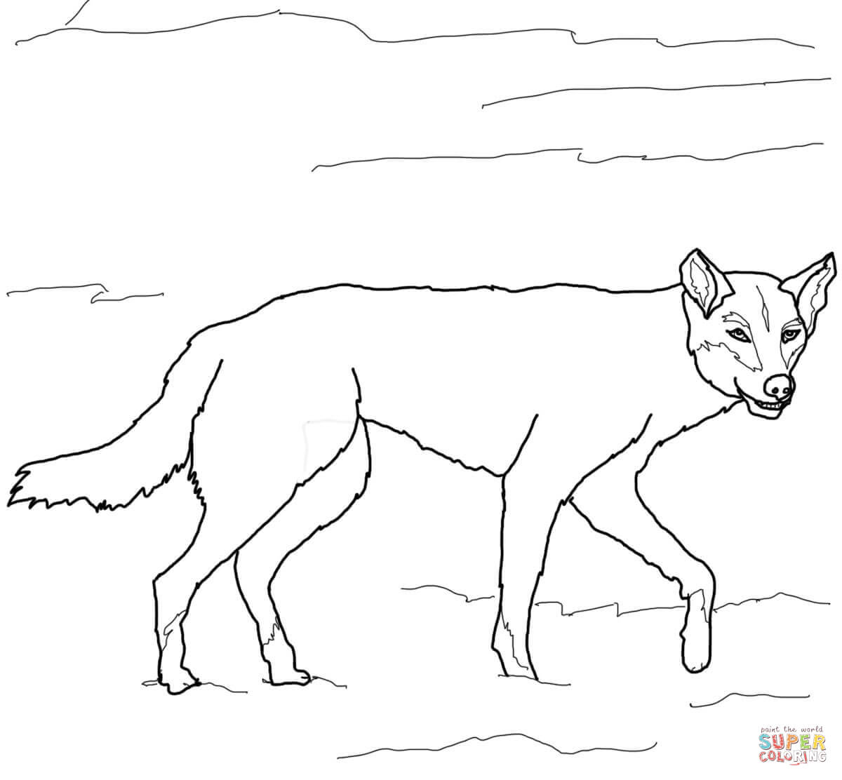 Dingo coloring #10, Download drawings