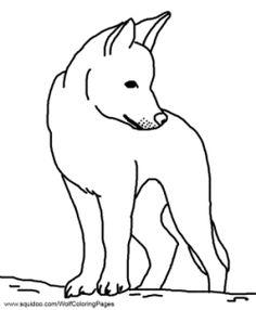 Dingo coloring #7, Download drawings