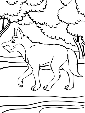 Dingo coloring #19, Download drawings