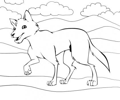 Dingo coloring #8, Download drawings