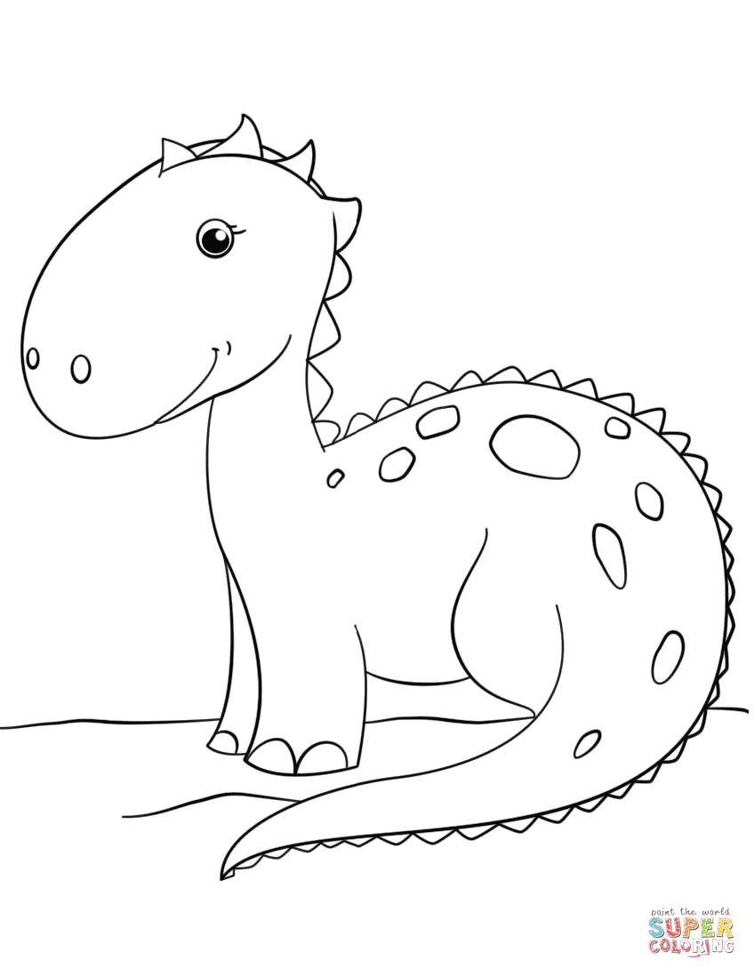 Dinosaur coloring #16, Download drawings