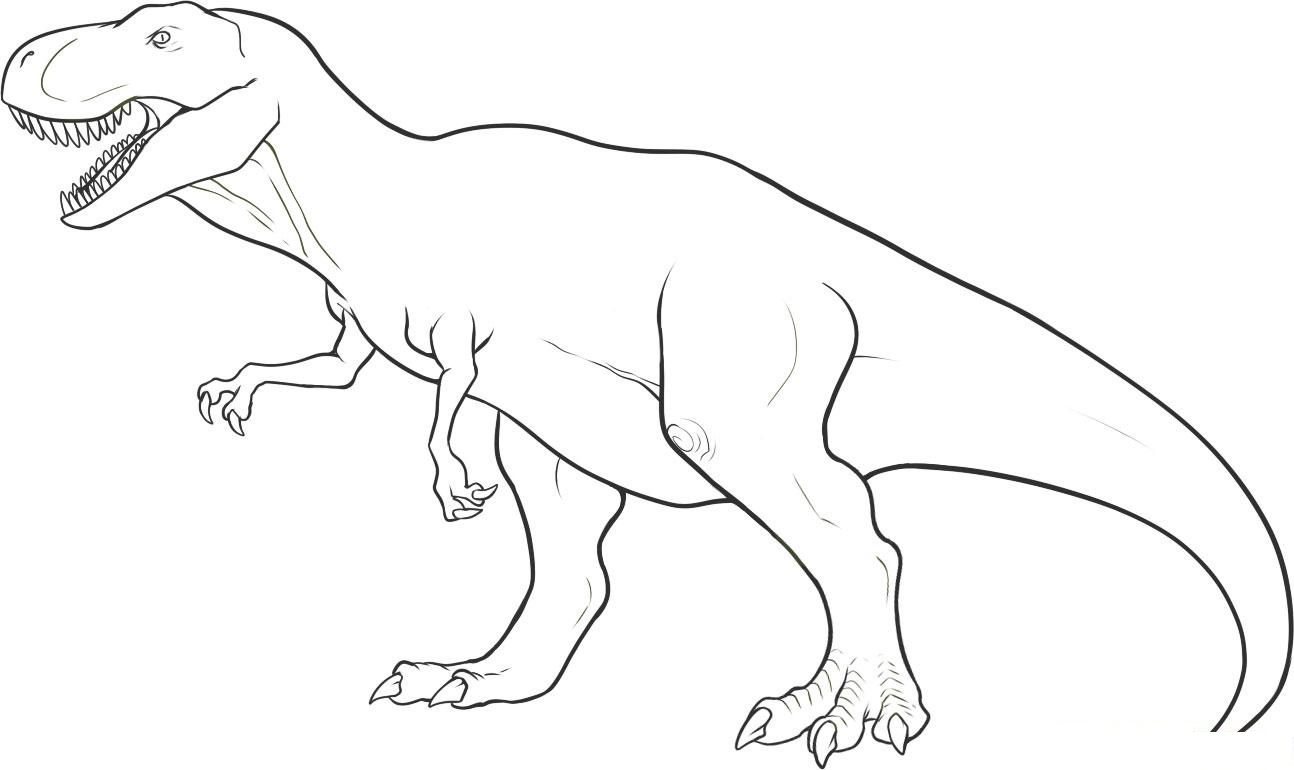 Dinosaur coloring #14, Download drawings
