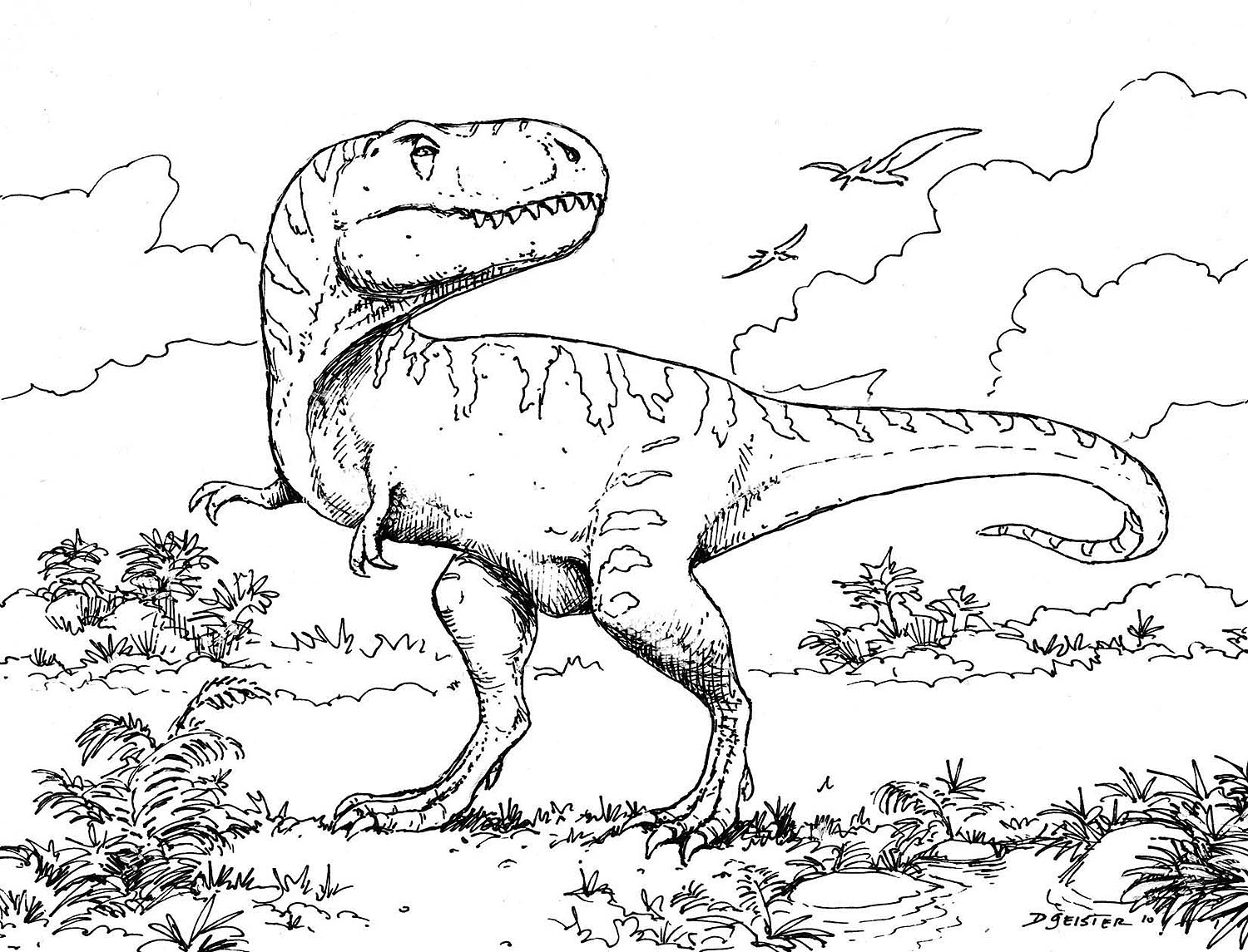 Dinosaur coloring #10, Download drawings