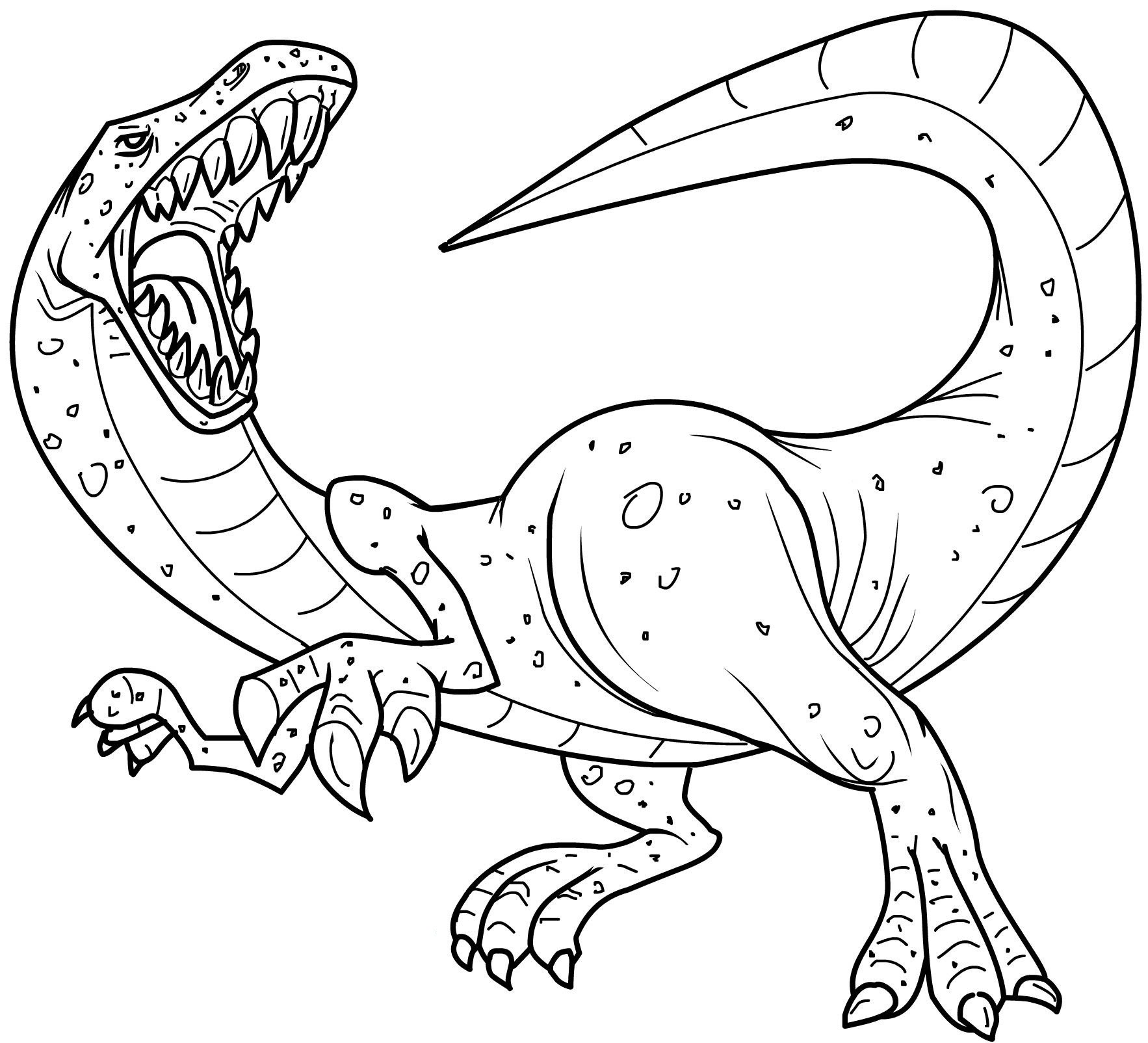 Dinosaur coloring #7, Download drawings