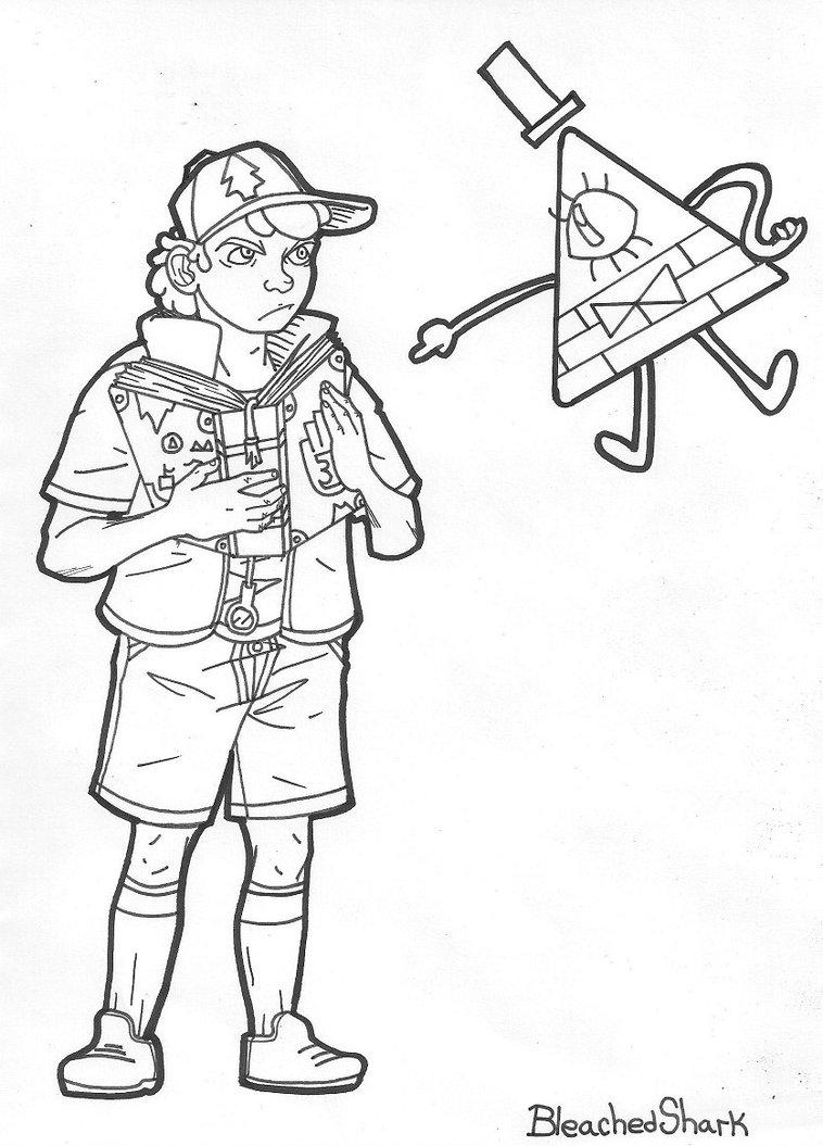 Dipper coloring #9, Download drawings