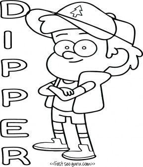 Dipper coloring #1, Download drawings