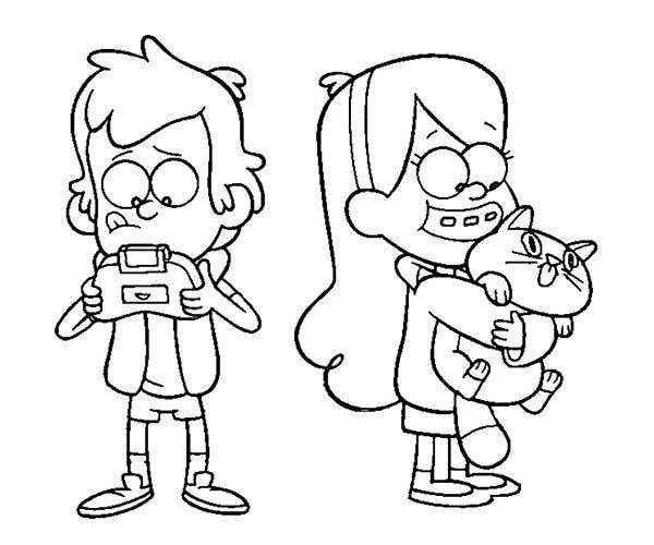 Dipper coloring #6, Download drawings