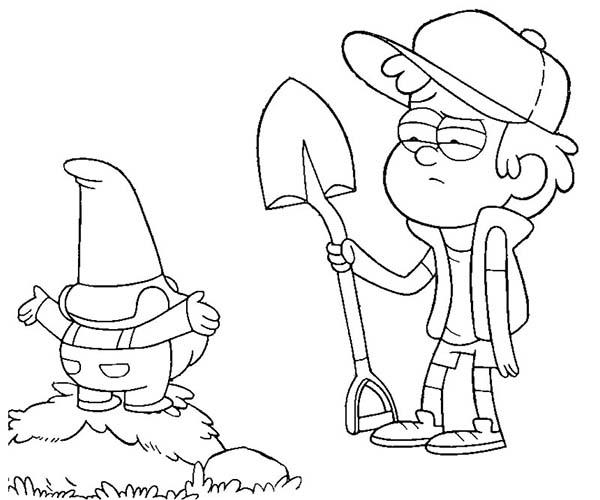 Dipper coloring #7, Download drawings