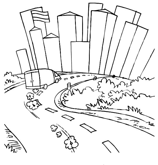 Dirt Road coloring #18, Download drawings