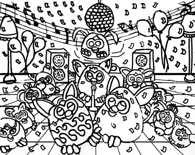 Disco coloring #19, Download drawings
