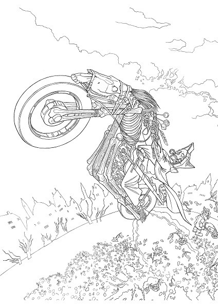 Discworld coloring #10, Download drawings