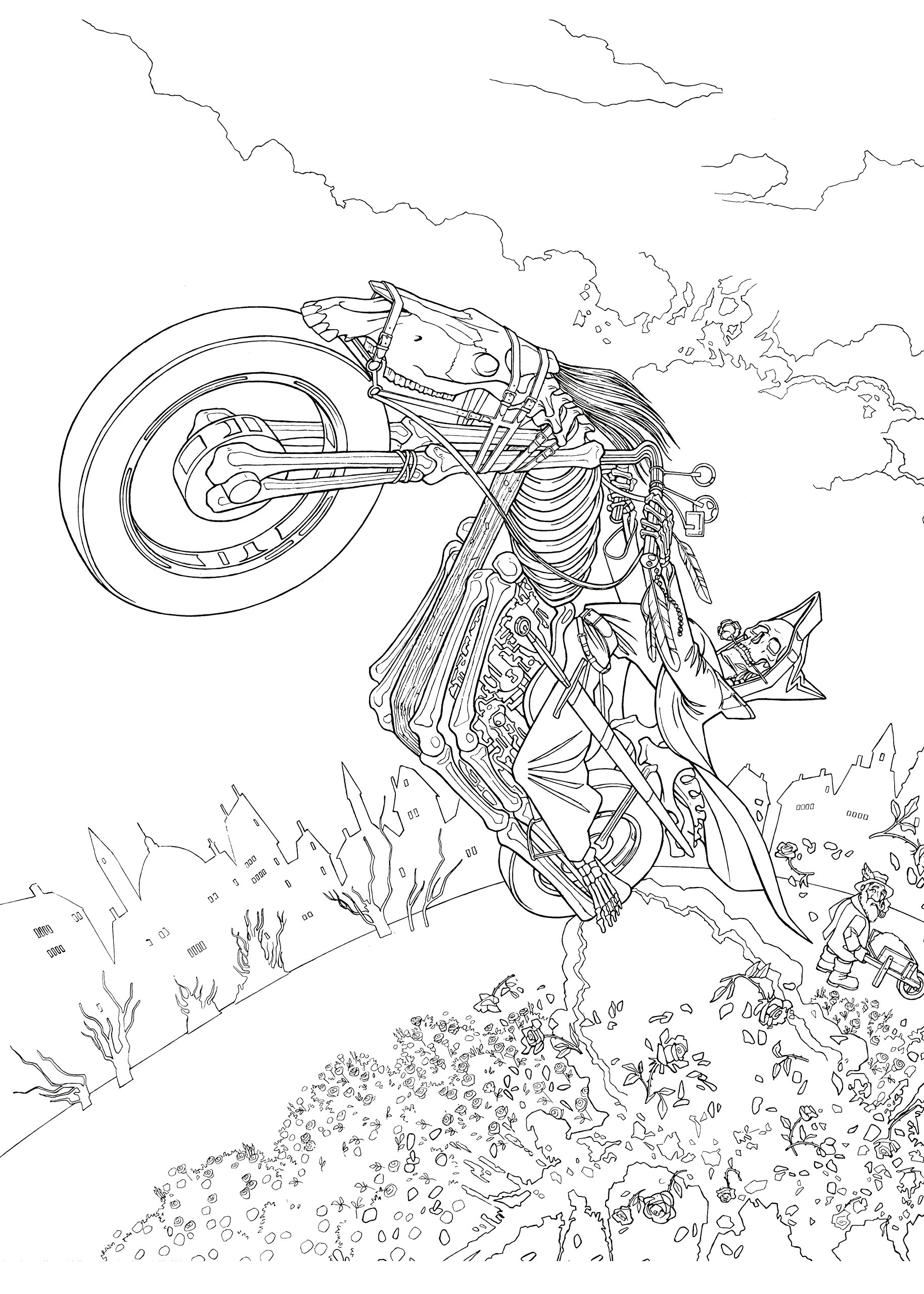 Discworld coloring #15, Download drawings