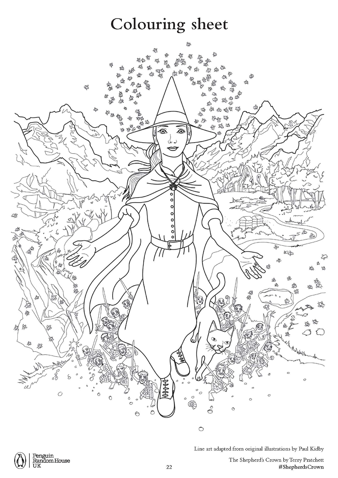 Discworld coloring #8, Download drawings