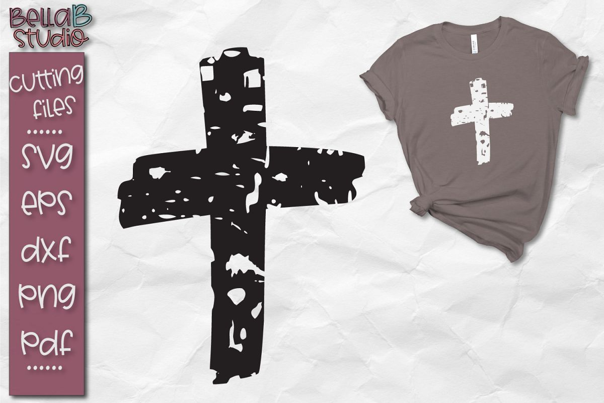 distressed cross svg #914, Download drawings