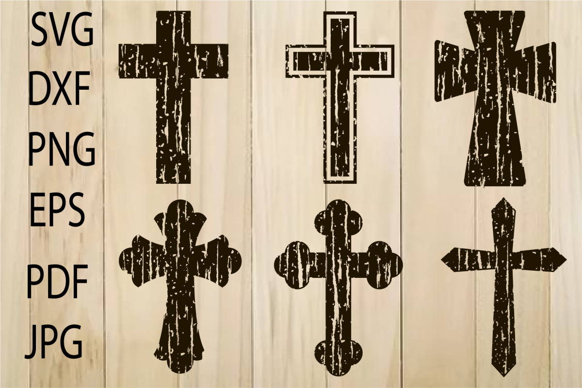 distressed cross svg #908, Download drawings