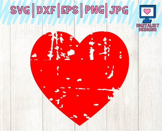 distressed heart svg #72, Download drawings