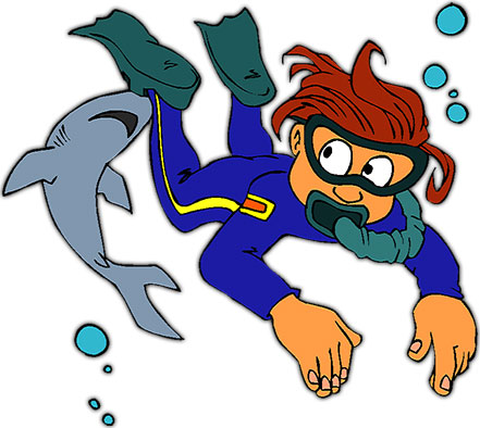 Diver clipart #5, Download drawings