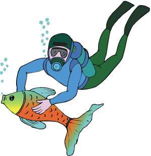 Diver clipart #7, Download drawings