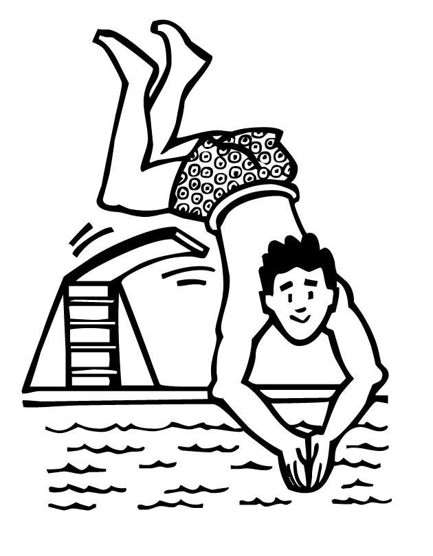 Diving coloring #12, Download drawings