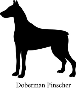 Doberman Pinscher clipart #1, Download drawings