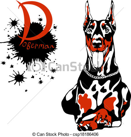 Doberman Pinscher clipart #5, Download drawings