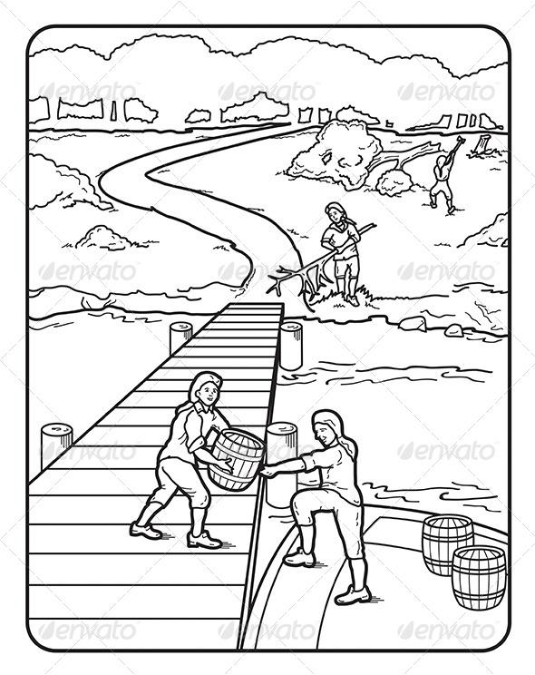 Dock coloring #19, Download drawings