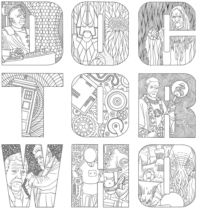 Doctor Who coloring #13, Download drawings