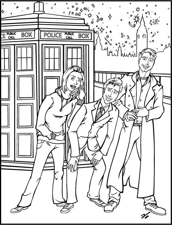 Doctor Who coloring #11, Download drawings