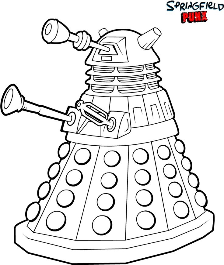 Doctor Who coloring #9, Download drawings