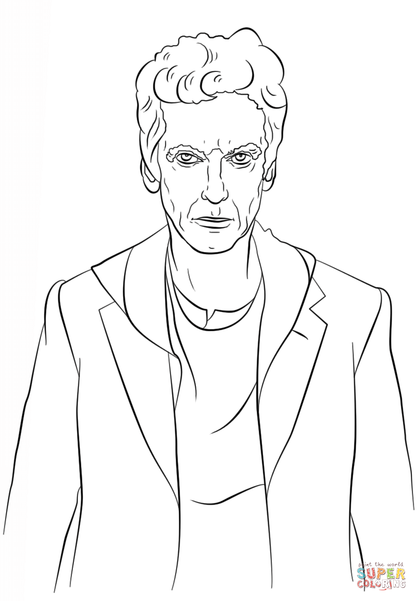 Doctor Who coloring #7, Download drawings