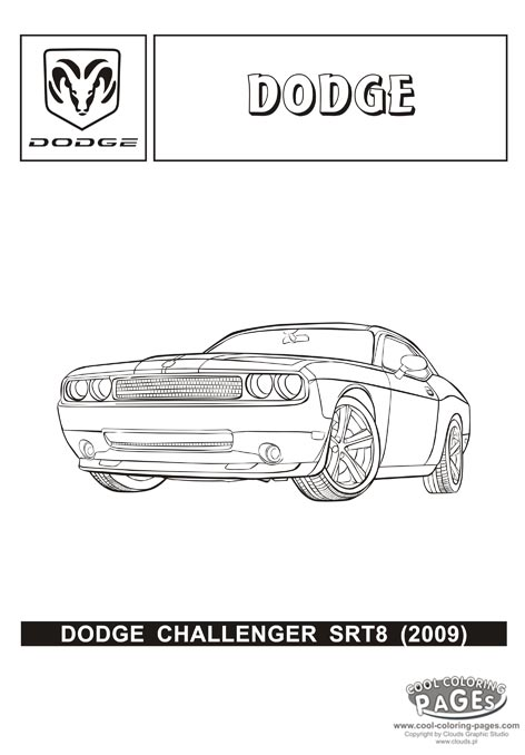 Kia Car Coloring Pages : Dodge challenger srt coloring download