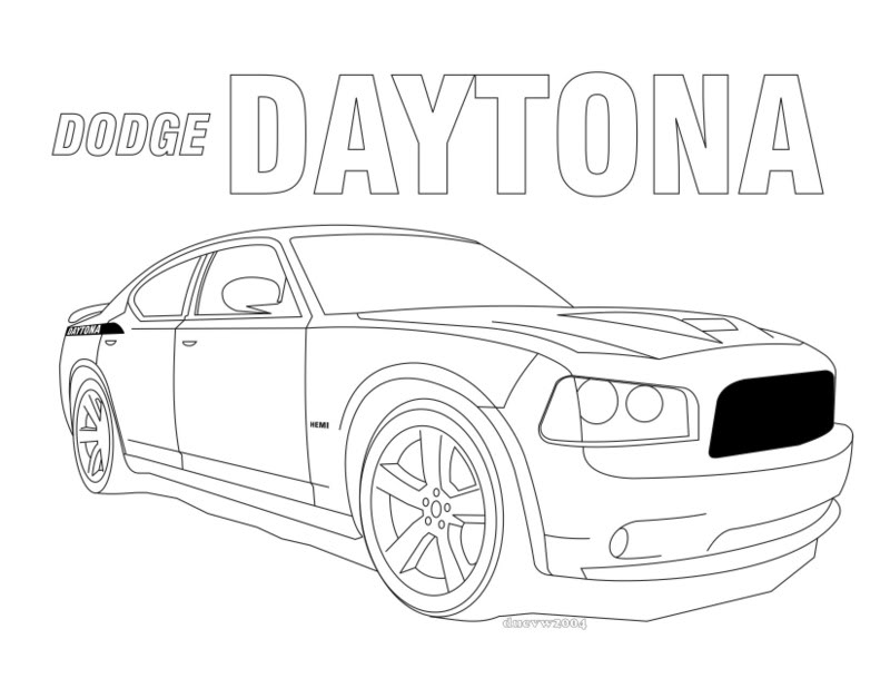 dodge charger coloring pages - photo#11