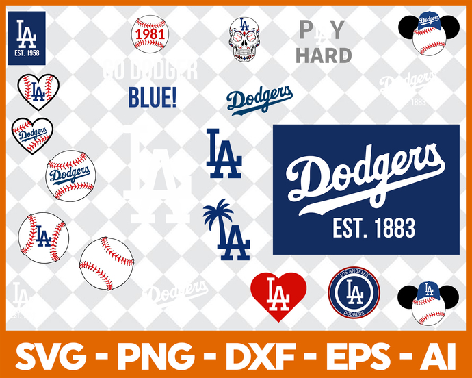 dodgers svg #970, Download drawings