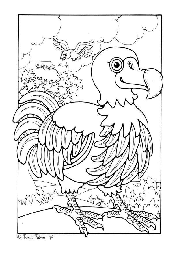 Dodo coloring #5, Download drawings