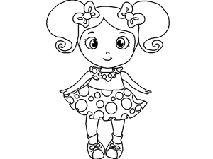 Doll coloring #1, Download drawings
