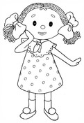 Doll coloring #2, Download drawings